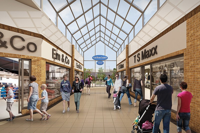 proposed design 2 the markets retail extension carlton lanes shopping centre castleford base 1 architects